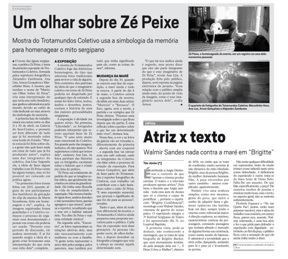 Matéria sobre a exposição Marés na edição 1565 do Cinform - 8 a 14 de abril de 2013