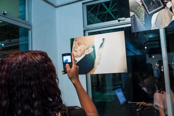 Público interagiu bastante com a exposição.